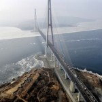 Bridge to the Russky Island in Vladivostok