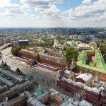 Flying over Moscow – Victory Day parade rehearsal