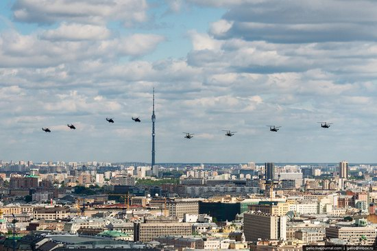 Flying over Moscow - Victory Day parade rehearsal, photo 15