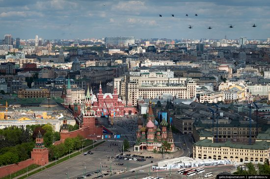 Flying over Moscow - Victory Day parade rehearsal, photo 3