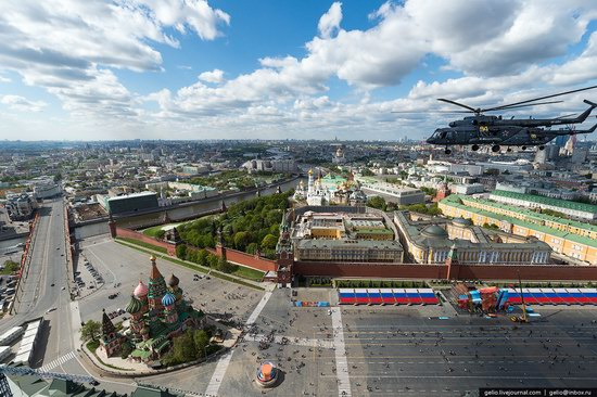 Flying over Moscow - Victory Day parade rehearsal, photo 6