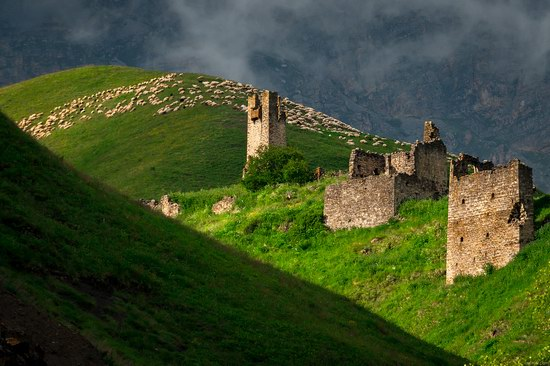 Majestic landscapes of the mountain Ingushetia, Russia, photo 17