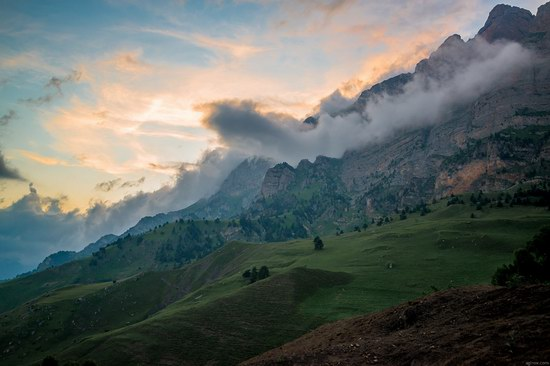 Majestic landscapes of the mountain Ingushetia, Russia, photo 18