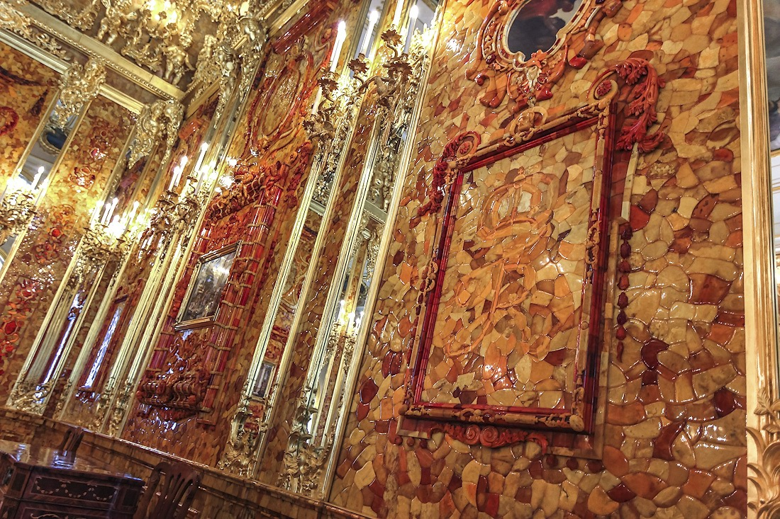 Image result for photos of the amber room in Catherines Palace in st petersburg russia