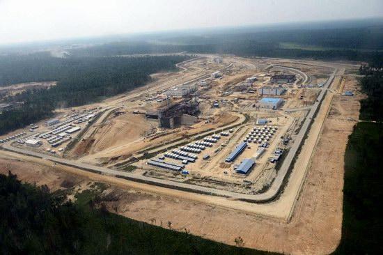 Cosmodrome Vostochny construction site, Russia, photo 1