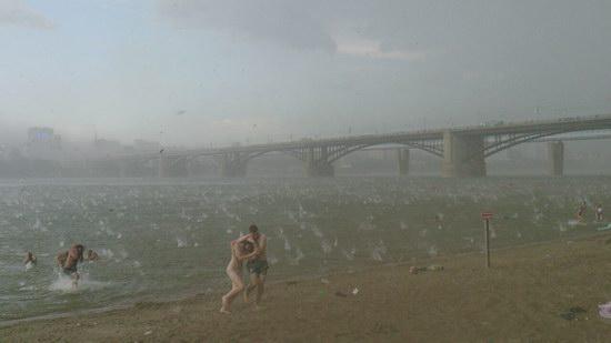 Heavy hailstorm, Novosibirsk, Russia