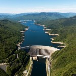 Aerial views of Sayano-Shushenskaya hydropower station