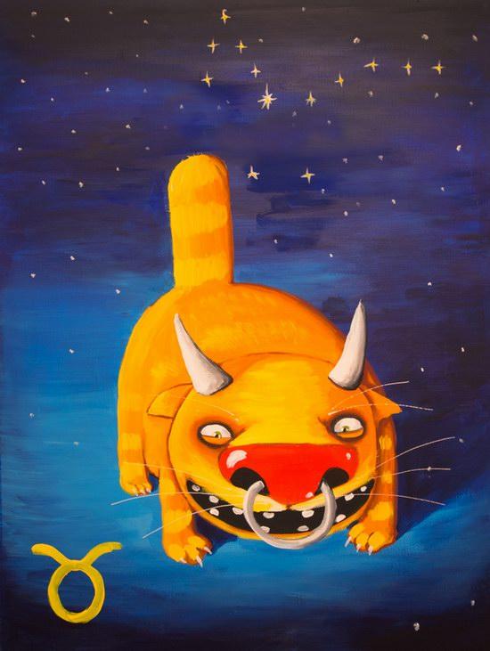 The cat zodiac signs - the Bull
