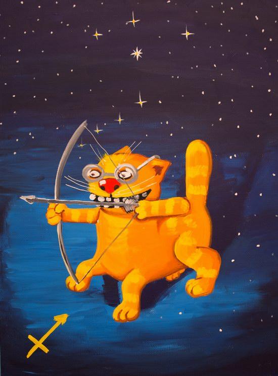 The cat zodiac signs - The (Centaur) Archer