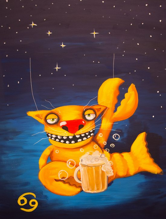 The cat zodiac signs - the Crab