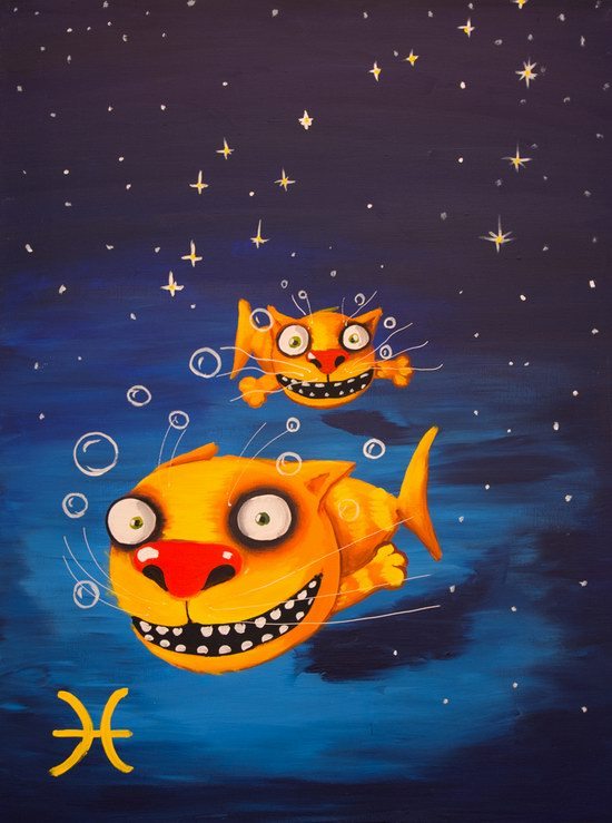The cat zodiac signs - The Fish