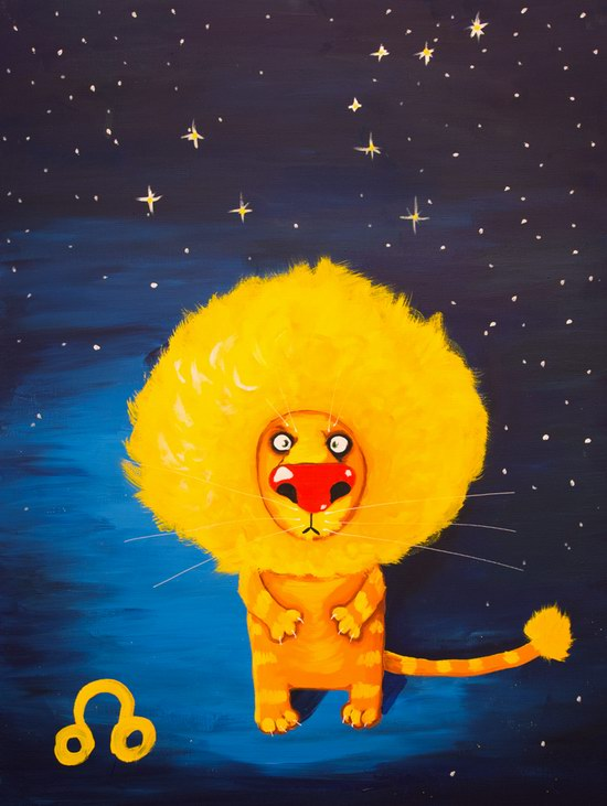 The cat zodiac signs - the Lion