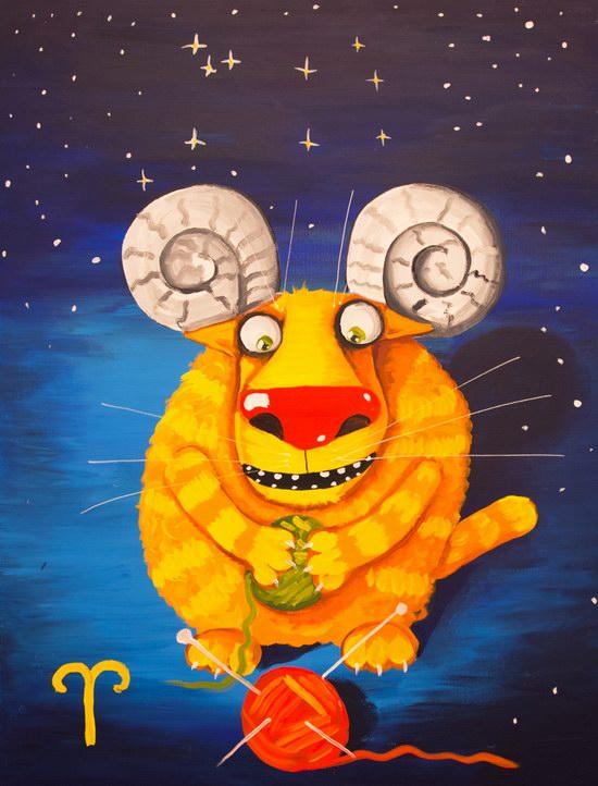 The cat zodiac signs - the Ram