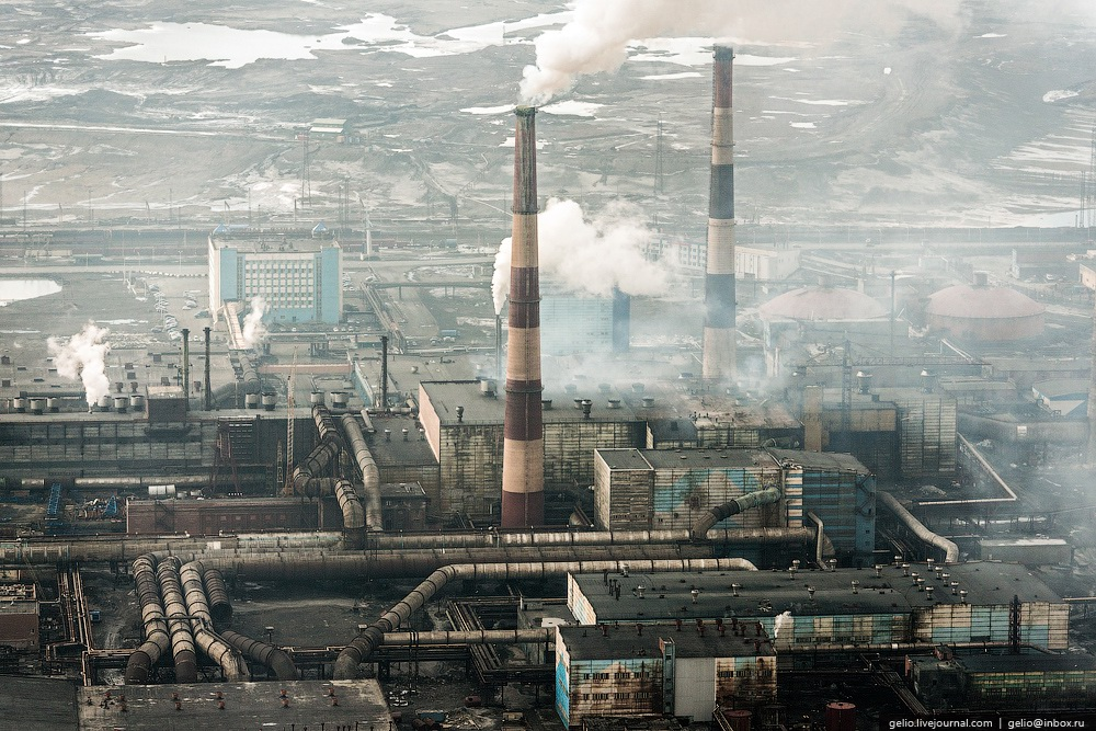 June In Norilsk One Of The Largest Cities Within The