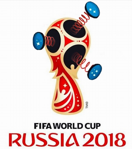FIFA World Cup Russia 2018 official emblem (logo) mocking 10