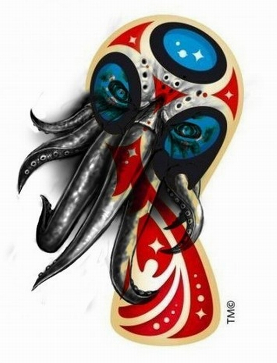 FIFA World Cup Russia 2018 official emblem (logo) mocking 2