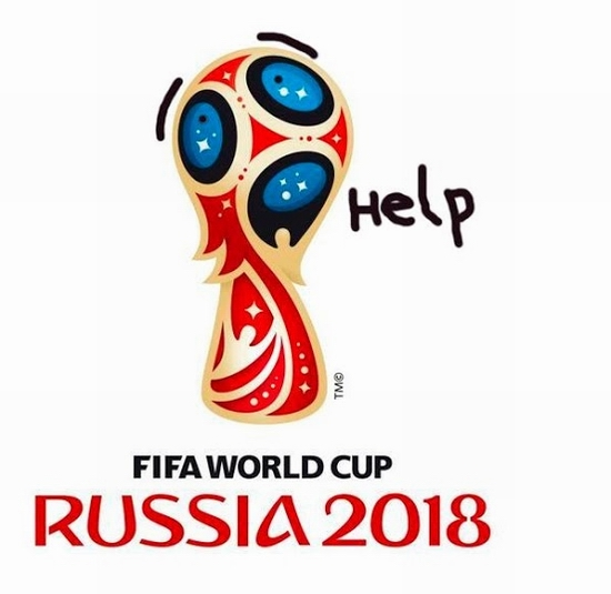 FIFA World Cup Russia 2018 official emblem (logo) mocking 5