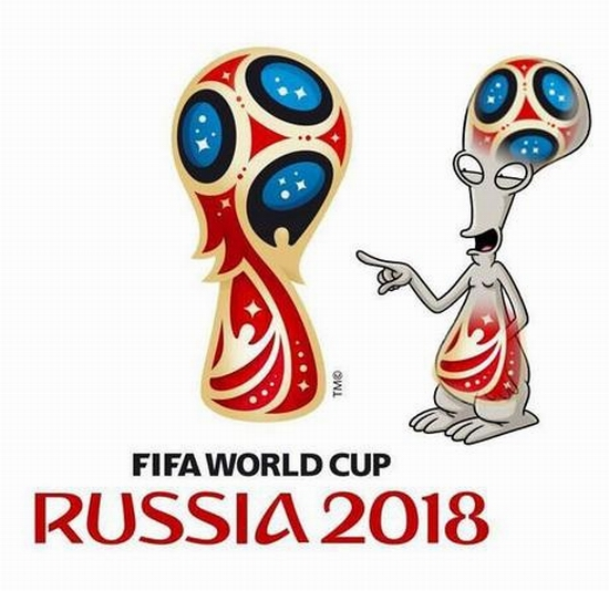 FIFA World Cup Russia 2018 official emblem (logo) mocking 8