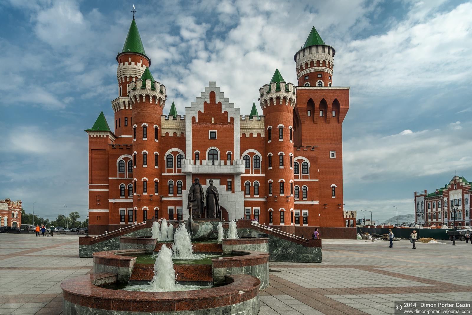 Two castles of yoshkar ola russia