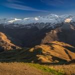 Mountainous Chechnya in late autumn