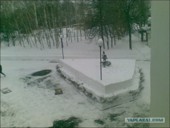 Square snowdrifts, the army of Russia, photo 12