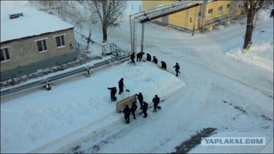 Square snowdrifts, the army of Russia, photo 13