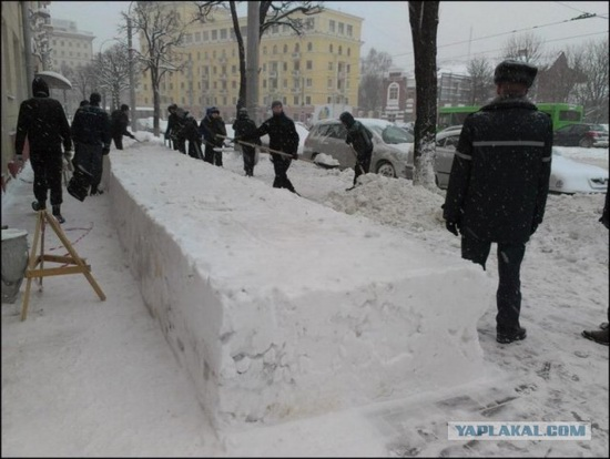 Square snowdrifts, the army of Russia, photo 14