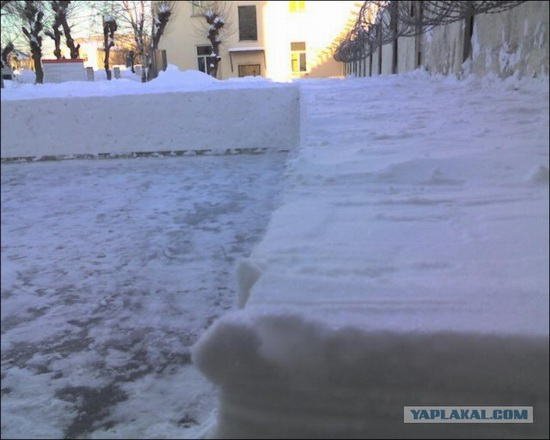 Square snowdrifts, the army of Russia, photo 5