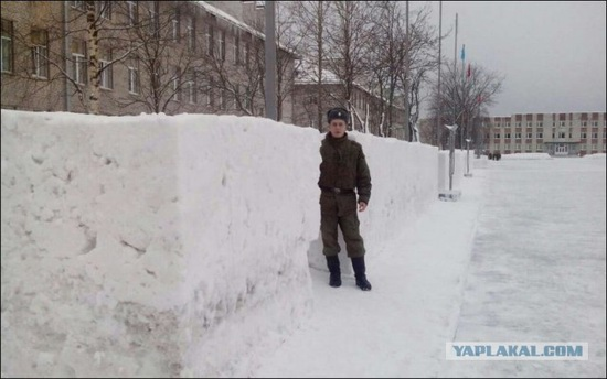 Square snowdrifts, the army of Russia, photo 6