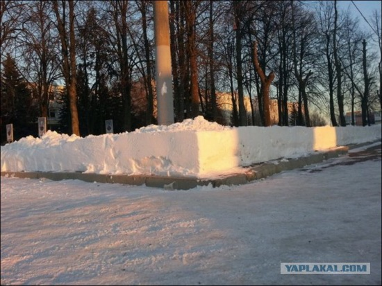 Square snowdrifts, the army of Russia, photo 8