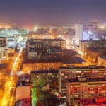 The night views of Novosibirsk