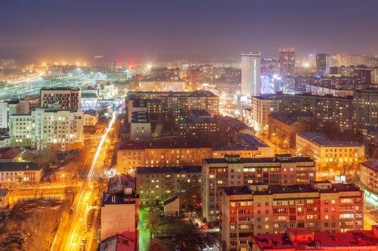 Night views of Novosibirsk, Siberia, Russia, photo 1