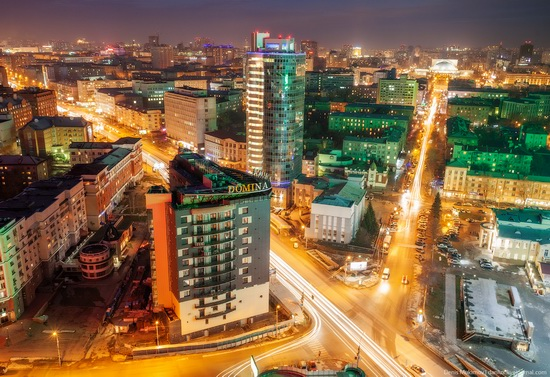 Night views of Novosibirsk, Siberia, Russia, photo 2