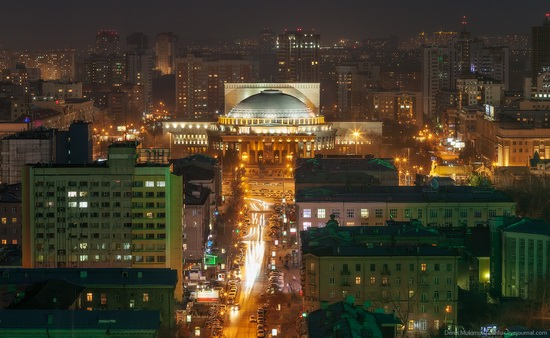 Night views of Novosibirsk, Siberia, Russia, photo 3