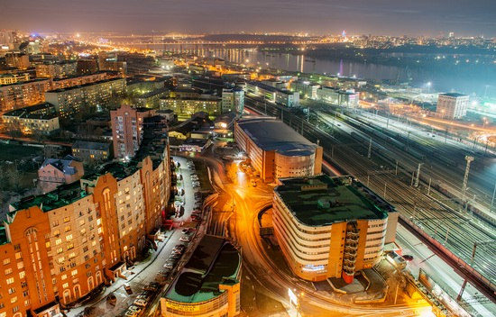 Night views of Novosibirsk, Siberia, Russia, photo 4
