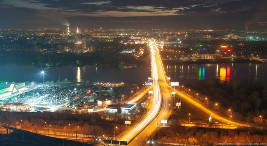 Night views of Novosibirsk, Siberia, Russia, photo 6