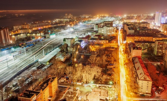 Night views of Novosibirsk, Siberia, Russia, photo 7