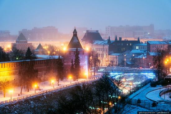 Winter in Nizhny Novgorod, Russia, photo 1
