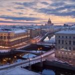 Saint Petersburg – above the three bridges