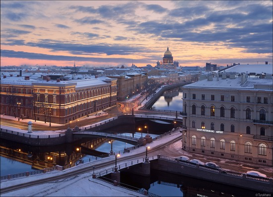 Above the three bridges, Saint Petersburg, Russia