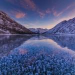 Magnificent colors of winter Altai – Multinskiye lakes