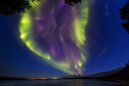 Northern lights in the sky over Murmansk region, Russia, photo 10