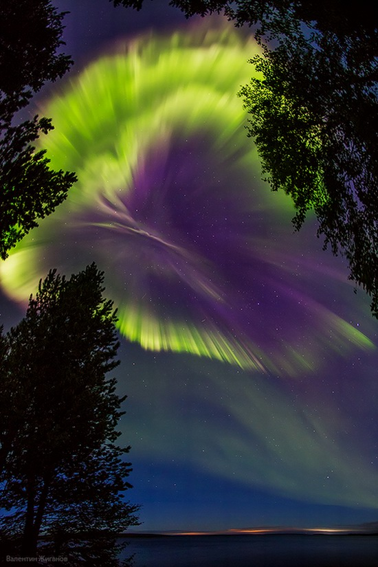 Northern lights in the sky over Murmansk region, Russia, photo 11