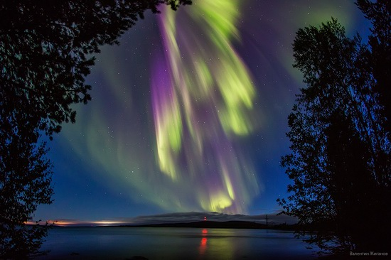 Northern lights in the sky over Murmansk region, Russia, photo 13