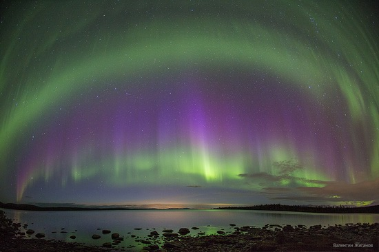 Northern lights in the sky over Murmansk region, Russia, photo 16
