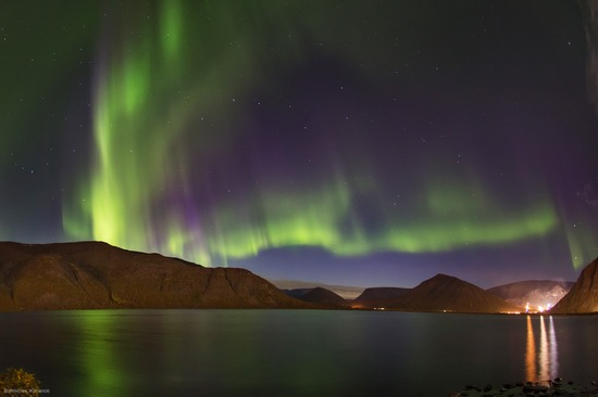 Northern lights in the sky over Murmansk region, Russia, photo 18