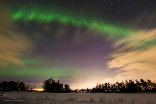 Northern lights in the sky over Murmansk region, Russia, photo 21
