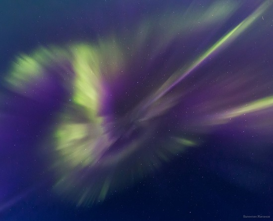 Northern lights in the sky over Murmansk region, Russia, photo 4