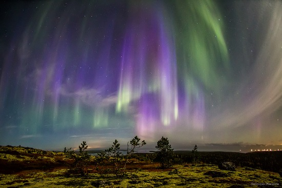Northern lights in the sky over Murmansk region, Russia, photo 6