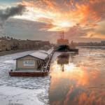 Winter sunset in St. Petersburg